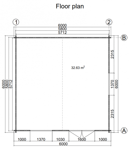 NEWCASTLE LOG CABIN 5m x 3m 1
