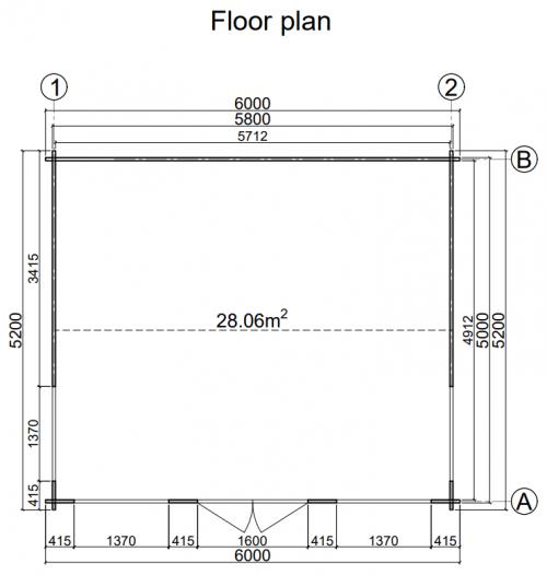 CUSTOM ONE BED 5.2m x 6.0m 1