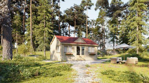 Residential ONE BEDROOM CUSTOM log cabin