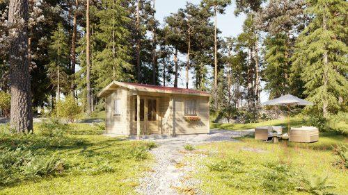 Residential ONE BEDROOM TYPE C log cabin