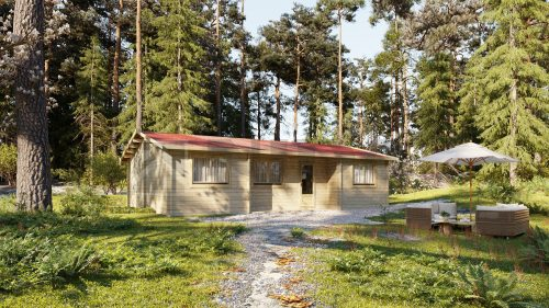Residential THREE budget A log cabin