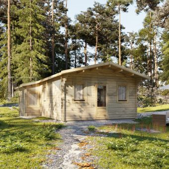 TWO BED TYPE F LOG CABIN