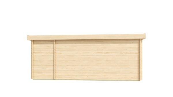 3-room modern wooden cabin ALU Concept B 44 | 4.8 x 6 m (17'7'' x 19'7'') 44 mm 4