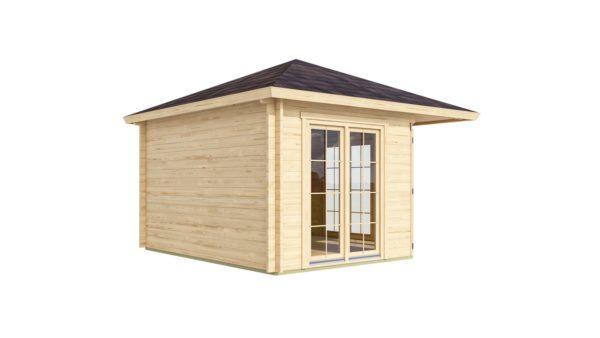Five-corner wooden garden shed FARGO 44 B   3.8 x 3.8 m (12'6'' x 12'6'') 44 mm 5
