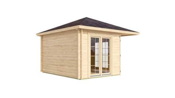Five-corner wooden garden shed FARGO 44 B | 3.8 x 3.8 m (12'6'' x 12'6'') 44 mm 3