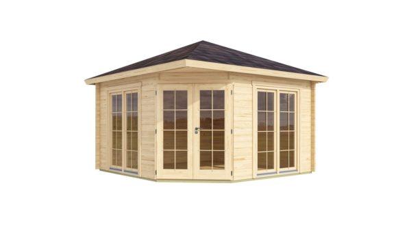 Five-corner wooden garden shed FARGO 44 B   3.8 x 3.8 m (12'6'' x 12'6'') 44 mm 2