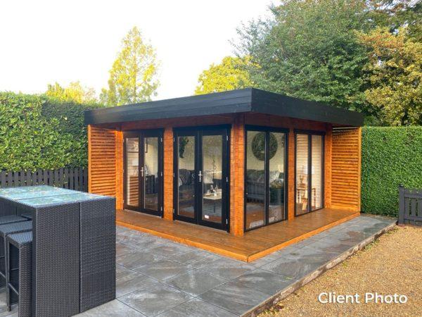 Wooden garden office LISA 44 A | 4.6 x 4.6 m (15'2'' x 15'2'') 44 mm 4