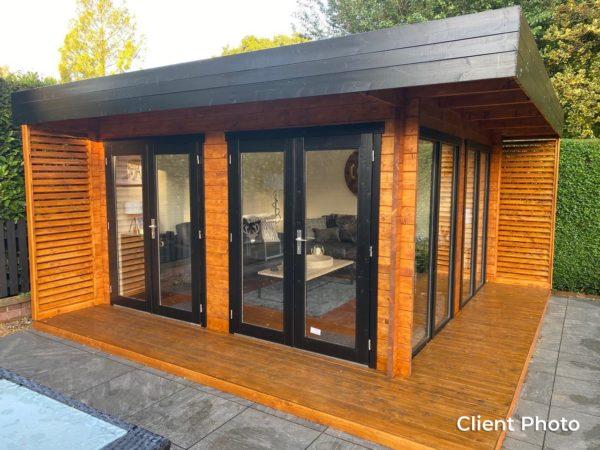 Wooden garden office LISA 44 A | 4.6 x 4.6 m (15'2'' x 15'2'') 44 mm 5