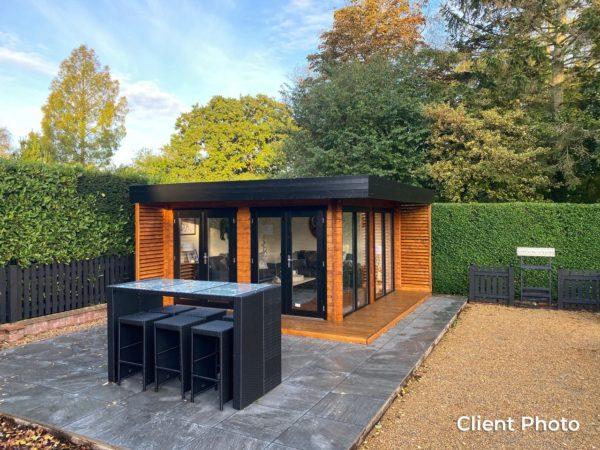 Wooden garden office LISA 44 A | 4.6 x 4.6 m (15'2'' x 15'2'') 44 mm 3