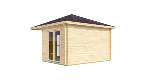 Five-corner wooden garden shed FARGO 44 B | 3.8 x 3.8 m (12'6'' x 12'6'') 44 mm 5