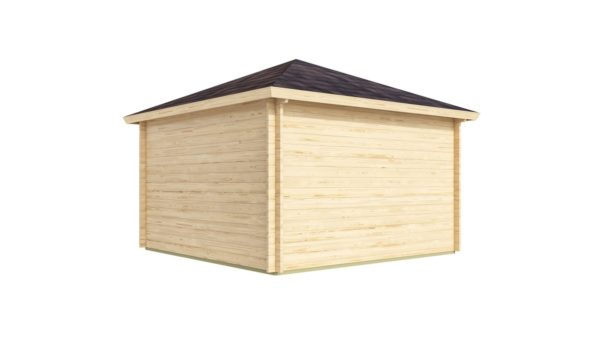 Five-corner wooden garden shed FARGO 44 B | 3.8 x 3.8 m (12'6'' x 12'6'') 44 mm 4
