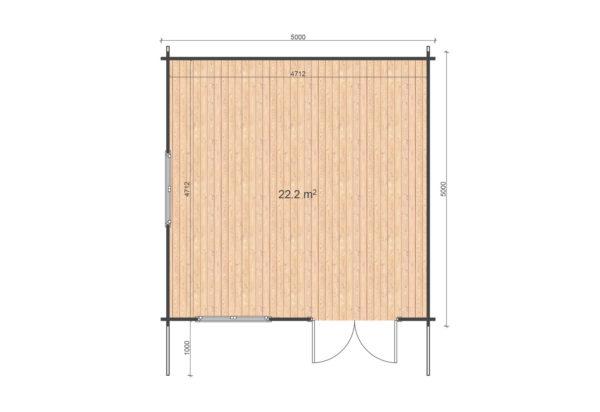 WATERFORD LOG CABIN | 5m X 5m 2