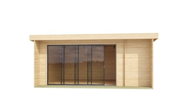 Wooden cabin with 3 rooms ALU Concept 70 B | 4.8 x 6 m (17'7'' x 19'7'') 70 mm 2