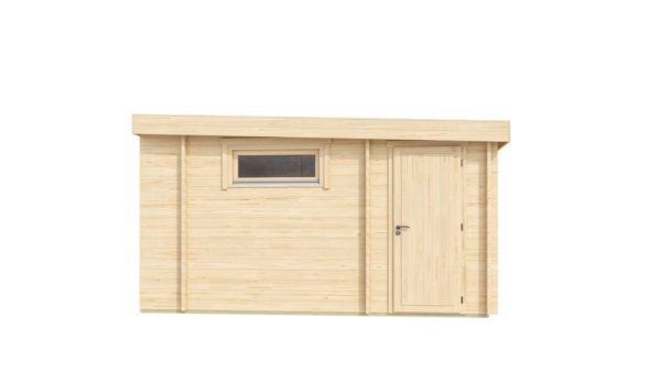 Wooden cabin with 3 rooms ALU Concept 70 B | 4.8 x 6 m (17'7'' x 19'7'') 70 mm 4