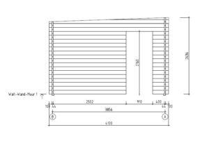 Compact garden room with sliding doors ALU Concept 70 E | 4.1 x 4.4 m (13'5'' x 14'5'') 16