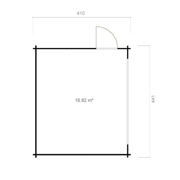 Compact garden room with sliding doors ALU Concept 70 E | 4.1 x 4.4 m (13'5'' x 14'5'') 12