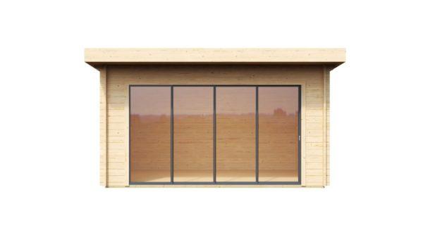 Compact garden room with sliding doors ALU Concept 70 E | 4.1 x 4.4 m (13'5'' x 14'5'') 4