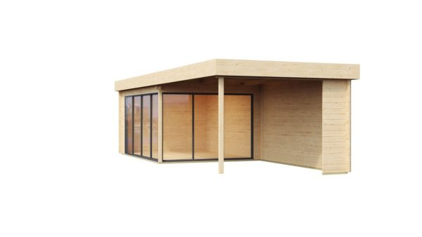 Garden room with a large covered terrace ALU Concept 70 A + TC | 9.4 x 3.7 m (30'11'' + 12'1'') 70 mm 3