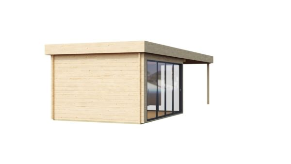 Garden room with a large covered terrace ALU Concept 70 A + TC | 9.4 x 3.7 m (30'11'' + 12'1'') 70 mm 5