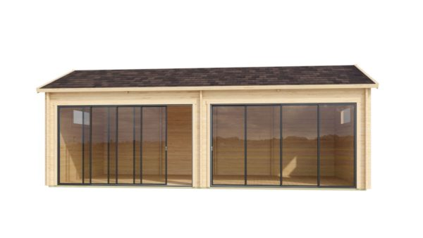 Open plan garden annexe ALU Concept Jara 70 B   8.4 x 4.4 m (27'7'' x 14'3'') 70 mm 3