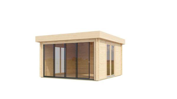 Light filled compact garden room ALU Concept LOUNGE 44 A | 4.4 x 4.4 m (14'5'' x 14'3'') 44 mm 2