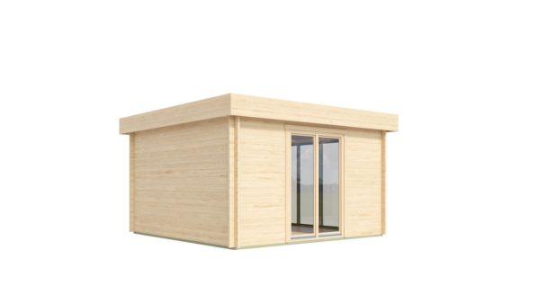 Light filled compact garden room ALU Concept LOUNGE 44 A | 4.4 x 4.4 m (14'5'' x 14'3'') 44 mm 4