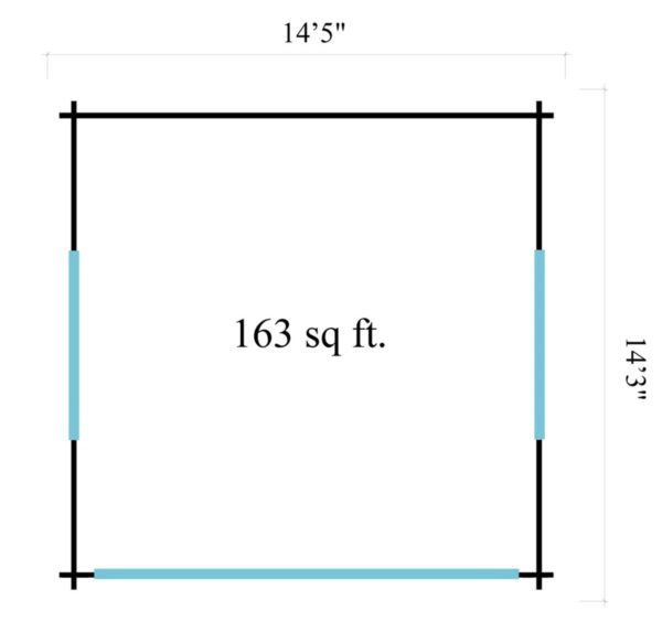 Light filled compact garden room ALU Concept LOUNGE 44 A | 4.4 x 4.4 m (14'5'' x 14'3'') 44 mm 6