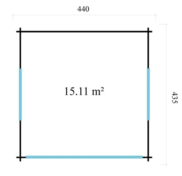 Light filled compact garden room ALU Concept LOUNGE 44 A | 4.4 x 4.4 m (14'5'' x 14'3'') 44 mm 7