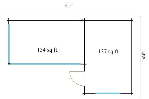 Multifunctional modern cabin ALU Concept N 44 | 8 x 5 m (26'3'' x 16'4'') 44 mm 6