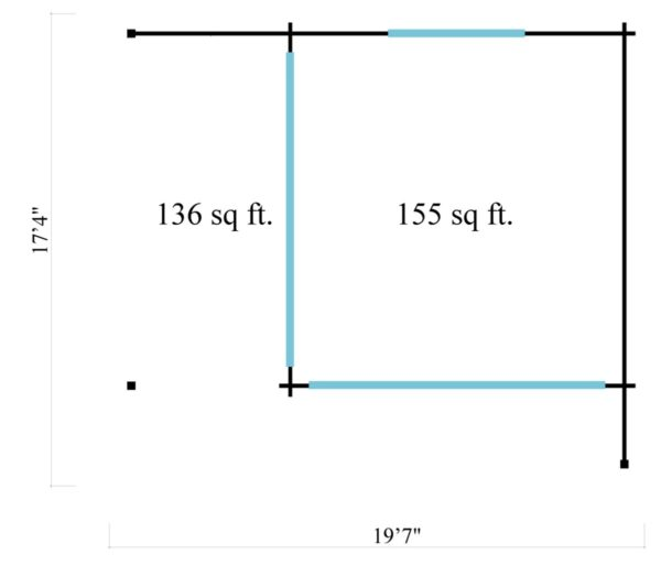 Corner garden room ALU Concept RELAX 70 A | 6 x 5.3 m (19'7'' x 17'4'') 70 mm 7