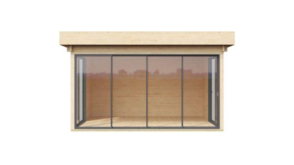 Glazed outdoor terrace ALU Concept 44 H | 4.5 x 4.4 m (14'6'' x 14'4'') 44 mm 2