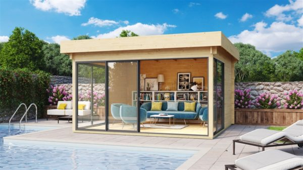 Garden room with safety glass ALU Concept 70 H | 4.5 x 4.4 m (14'6'' x 14'4'') 70 mm 1