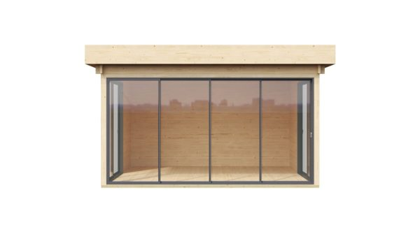 Garden room with safety glass ALU Concept 70 H | 4.5 x 4.4 m (14'6'' x 14'4'') 70 mm 2