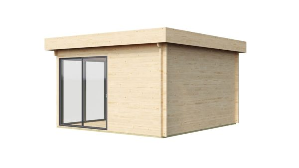 Garden room with safety glass ALU Concept 70 H | 4.5 x 4.4 m (14'6'' x 14'4'') 70 mm 4