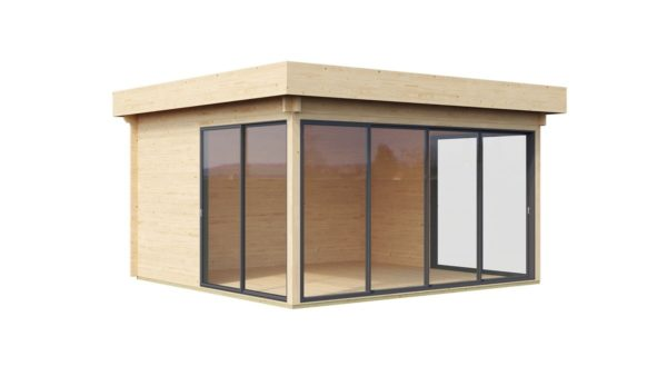 Garden room with safety glass ALU Concept 70 H | 4.5 x 4.4 m (14'6'' x 14'4'') 70 mm 6