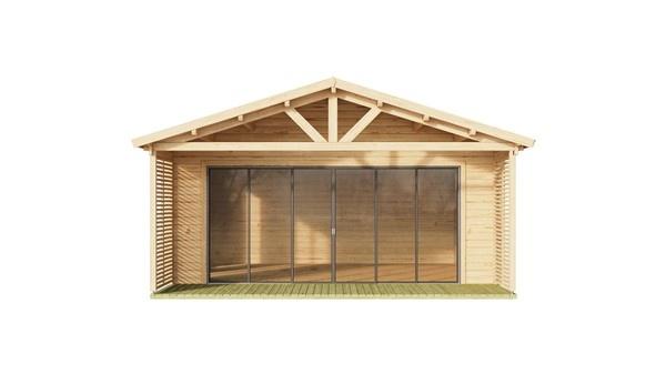 Wooden cabin ALU Concept AROSA C 70 | 6.2 x 8.3 m (20'3'' x 27'2'') 70 mm 3