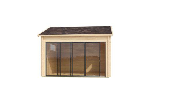 Compact garden room with glazed wall ALU Concept JARA 44 A   4.4 x 4.4 m (14'4'' x 14'2'') 2