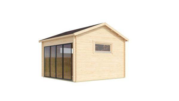 Compact garden room with glazed wall ALU Concept JARA 44 A   4.4 x 4.4 m (14'4'' x 14'2'') 3