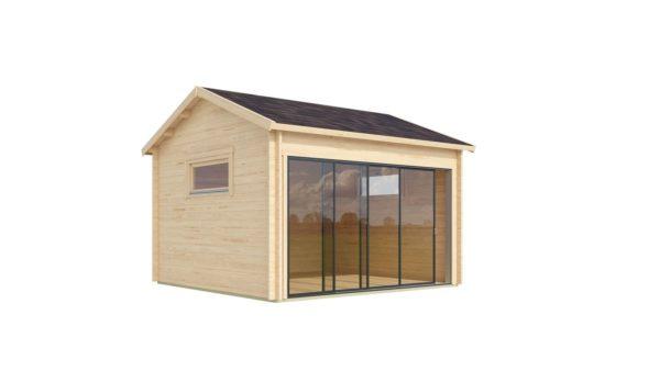 Compact garden room with glazed wall ALU Concept JARA 44 A   4.4 x 4.4 m (14'4'' x 14'2'') 6