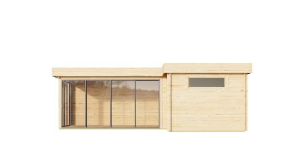 Two-room wooden cabin ALU Concept N 70 | 8 x 5 m (26'3'' x 16'4'') 70 mm 3
