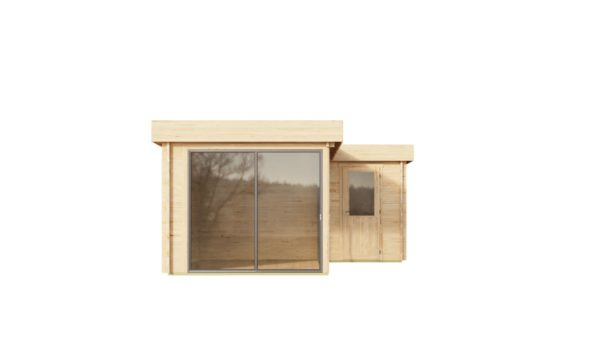 Two-room wooden cabin ALU Concept N 70   8 x 5 m (26'3'' x 16'4'') 70 mm 5