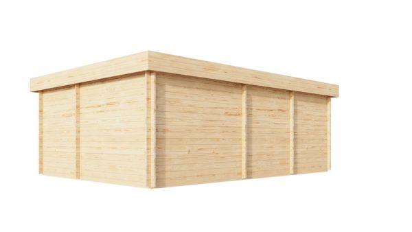 Corner log cabin ALU Concept QUINTA 70 | 6.8 x 4.8 m (22'4'' x 15'9'') 70 mm 4