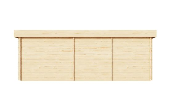 Corner log cabin ALU Concept QUINTA 70 | 6.8 x 4.8 m (22'4'' x 15'9'') 70 mm 5