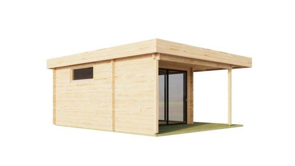 Modern garden room ALU Concept RELAX 44 A | 6 x 5.3 m (19'7'' x 17'4'') 44 mm 6