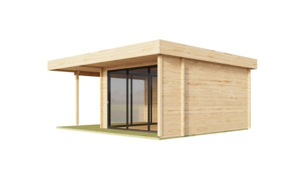 Corner garden room ALU Concept RELAX 70 A | 6 x 5.3 m (19'7'' x 17'4'') 70 mm 3