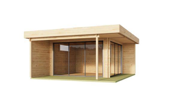 Corner garden room ALU Concept RELAX 70 A | 6 x 5.3 m (19'7'' x 17'4'') 70 mm 5