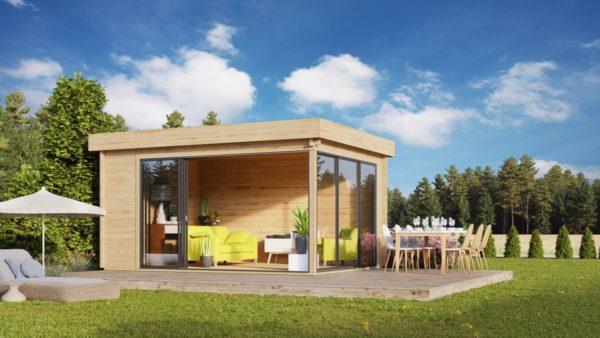 Simple garden room ALU Concept A 44 | 4.8 x 3.6 m (15'7'' x 11'7'') 44 mm 1