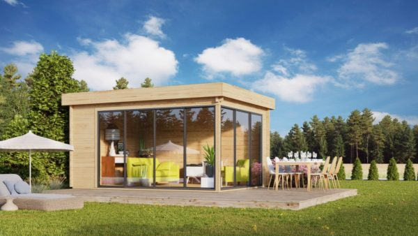 Simple garden room ALU Concept A 44 | 4.8 x 3.6 m (15'7'' x 11'7'') 44 mm 2