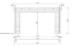 Garden room with aluminium doors ALU Concept E 44 | 4.1 x 4.4 m (13'5'' x 14'5'') 13