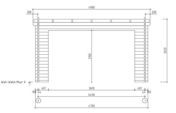 Garden room with aluminium doors ALU Concept E 44 | 4.1 x 4.4 m (13'5'' x 14'5'') 7